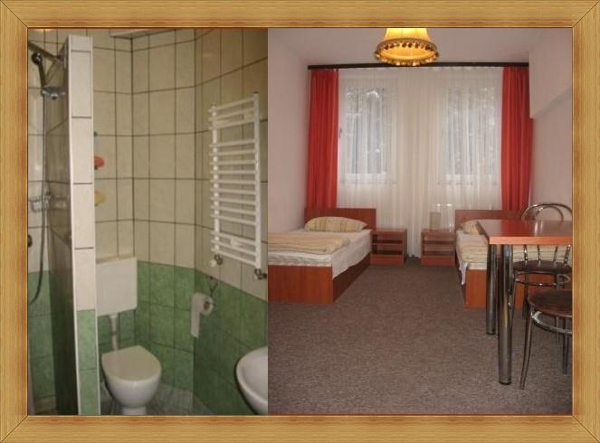 SAK Hotel Olsztyn Pokój dwuosobowy z łazienką TV, WiFi.