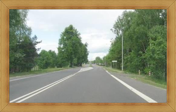 Wjazd do Olsztyna trasą 51 po lewej UWM Olsztyn.